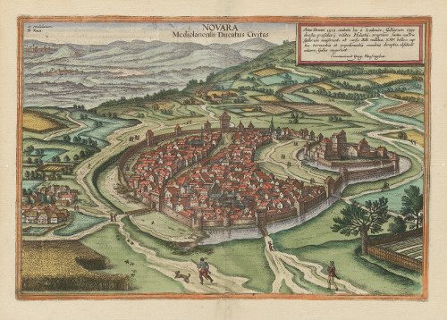 Novara antica mappa